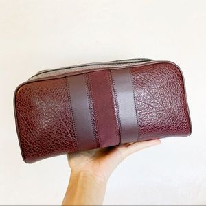NWT Coach Men's Suede Stripe Leather Toiletry Bag